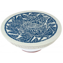 Spaza Protea Bowl And Dish Cover - Denim Blue - Large