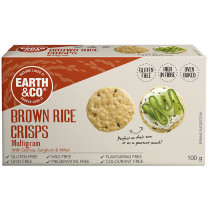 Earth & Co Brown Rice Crisps - Multigrain