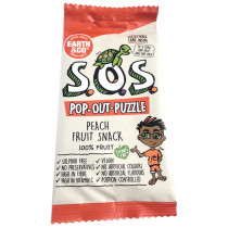 Earth & Co S.O.S. Pop-Out-Puzzle Fruit Snack - Peach