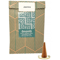 Ananta Luxury Hand Rolled Jasmine Incense Cones & Burner