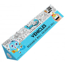 Inkmeo Learn About Vehicles Reusable Colouring Roll