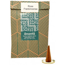 Ananta Luxury Hand Rolled Incense Cones - Rose Frankincense