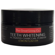 The Great Living Co Activated Charcoal Teeth Whitening Powder - Lemon