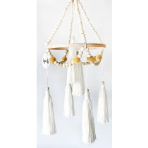 Tiger Lily Wooden Baby Mobile with Tassels