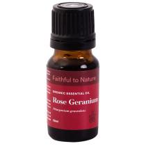 Faithful to Nature Organic Rose Geranium Essential Oil