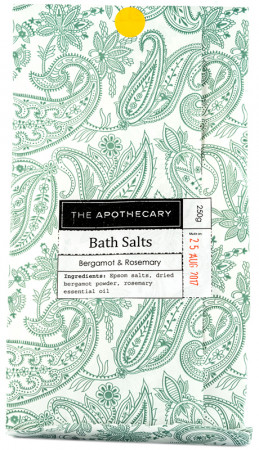 The Apothecary Bergamot & Rosemary Bath Salts