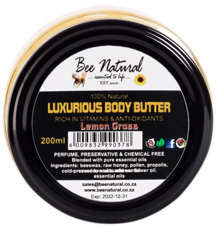 Bee Natural Body Butter - Lemongrass