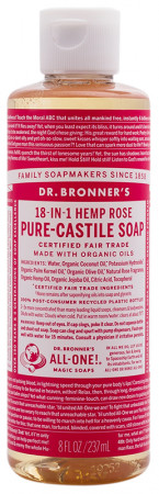 Dr. Bronner's Pure Castile Liquid Soap - Rose