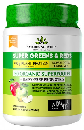 Nature's Nutrition Super Greens & Reds & Protein Apple
