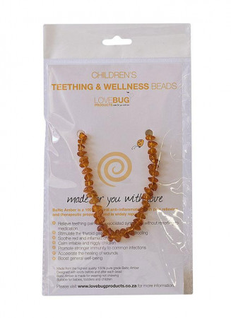 Cognac Baltic Amber Teething Necklace - Nuggets