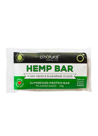 O'Natural Raw Chocolate Bar - Hemp Protein