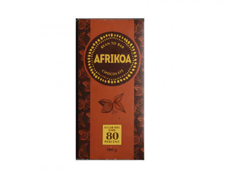 Afrikoa Sugar-Free 80% Dark Chocolate Bar