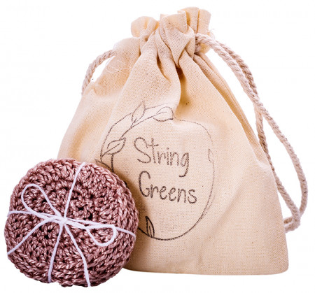 String Greens Reusable Face Rounds - Fawn