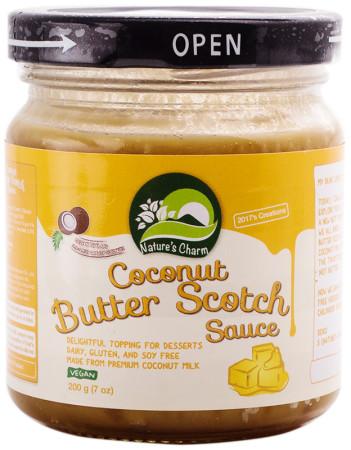 Natures Charm Coconut Butter Scotch Caramel Sauce