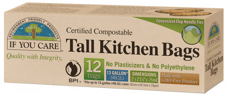 If You Care 13 Gallon Compostable Tall Kitchen Bags