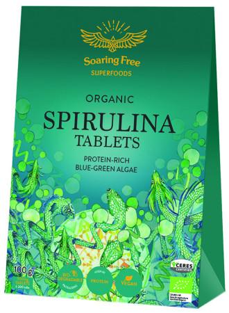 Soaring Free Superfoods Organic Spirulina Tablets